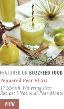 Peppered Pear Elixir | 17 Mouth-Watering Pear Recipes For National Pear Month BuzzFeed Food Community Post Recipe Feature // JustineCelina.com