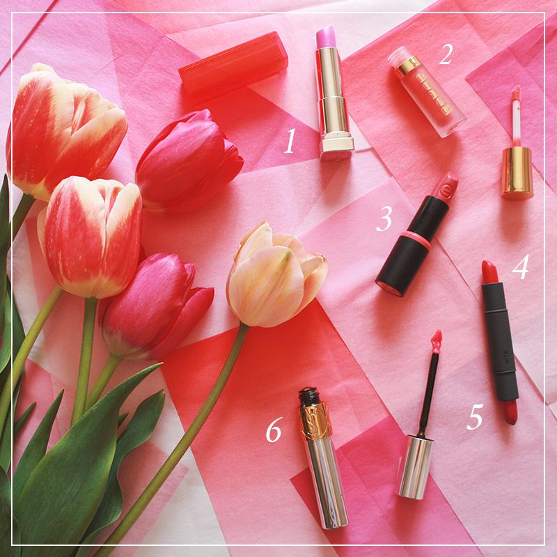 6 Fresh Spring Lip Colours // JustineCelina.com