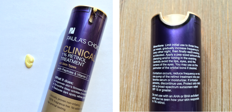 Best in Beauty   March   Paula's Choice Clinical 1% Retinol Treatment Photos, Review // JustineCelina.com