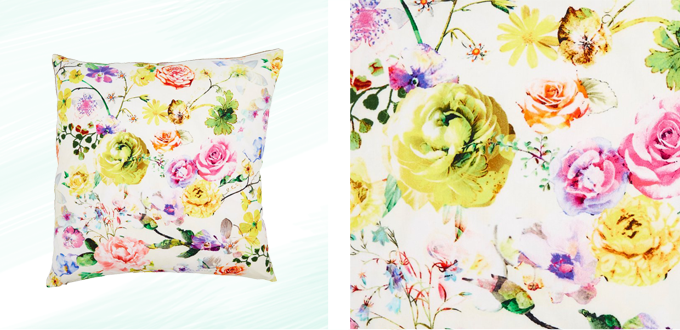Pattern Obsession | Floral Frenzy | Garden Floral Pillow // JustineCelina.com