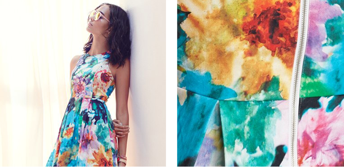 Pattern Obsession | Floral Frenzy | FELICITY & COCO Floral Print Fit & Flare Dress // JustineCelina.com