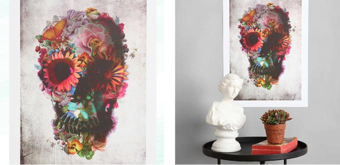 Pattern Obsession | Floral Frenzy | Ali Gulec Floral Skull Art Print // JustineCelina.com