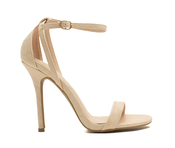 What to Wear to a Spring Wedding | Go Jane Snake Around Single-Strap Heels // JustineCelina.com