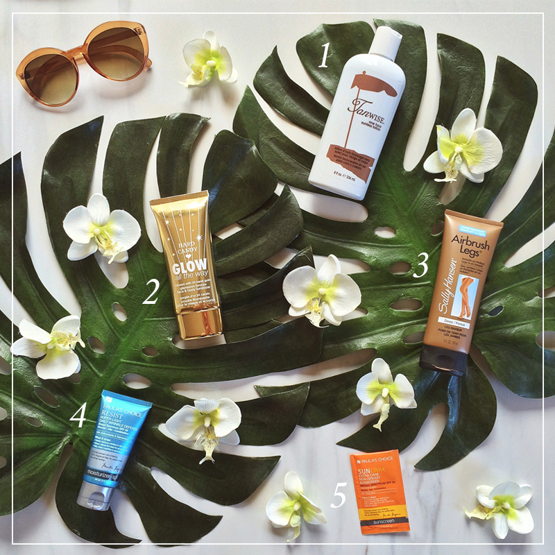 How to Get a Safe Summer Glow | Favourite Sunless Tanning Products // JustineCelina.com