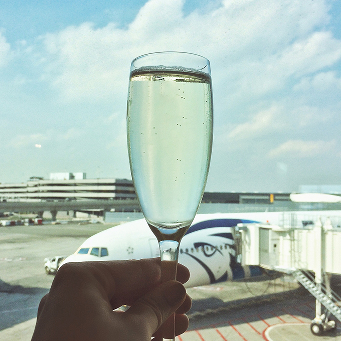 Snapshot | New York City | A Toast to the city that never sleeps at JFK Airport // JustineCelina.com