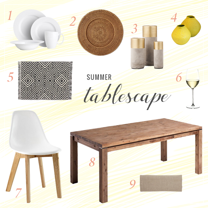 Summer Tablescape Shoppable // JustineCelina.com