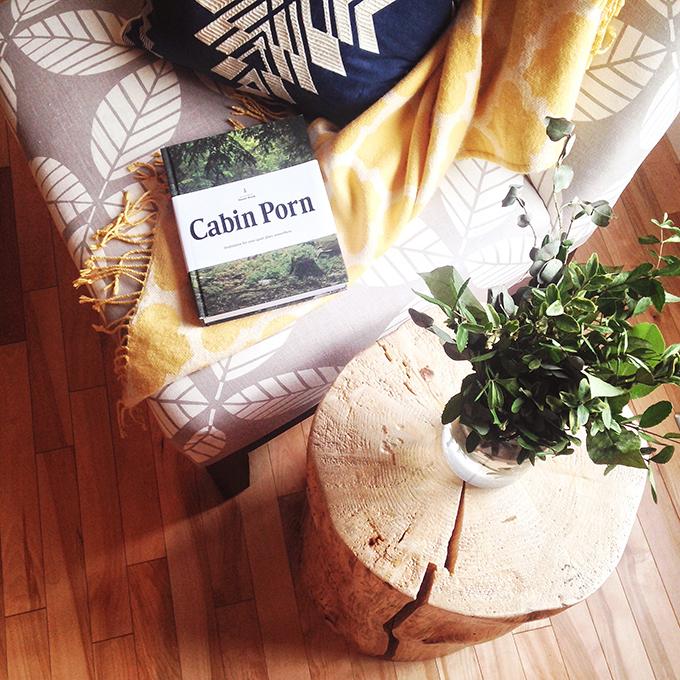 DIY Tree Stump Side Table // JustineCelina.com