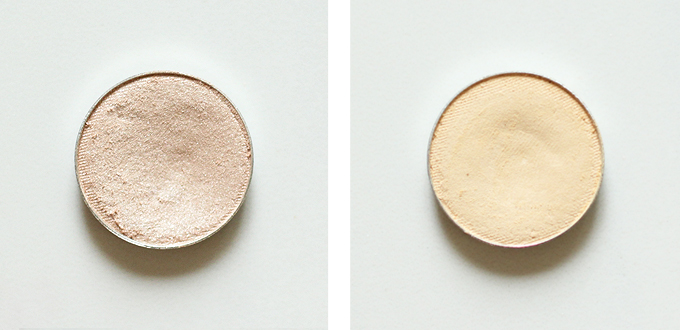 Makeup Geek Eyeshadow in Shimma Shimma Photos Review Swatches, Makeup Geek Eyeshadow in Vanilla Bean Photos Review Swatches