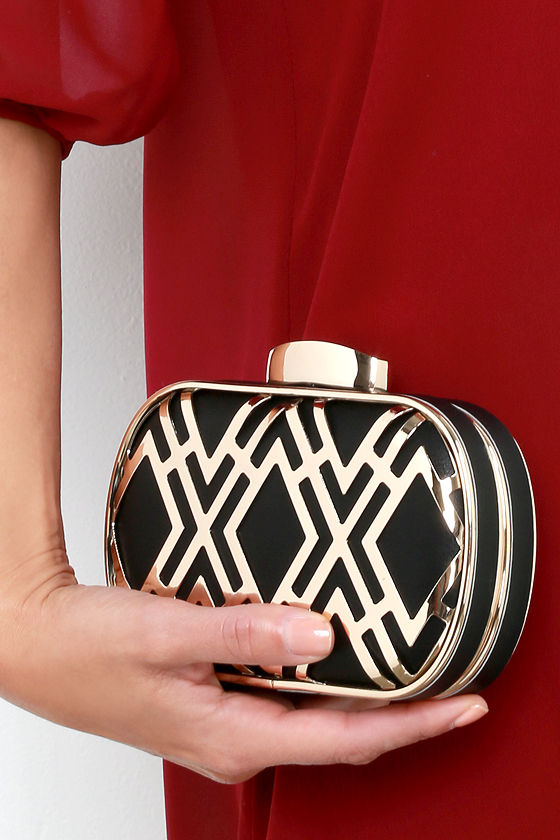 Time for Takeoff Gold and Black Clutch