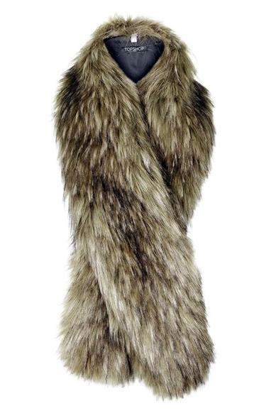 Topshop Faux Coyote Fur Stole