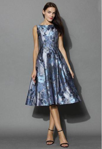 Absolute Fine Art Jacquard Prom Dress
