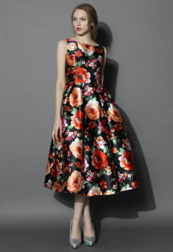 Exotic Amorous Floral Prom Dress