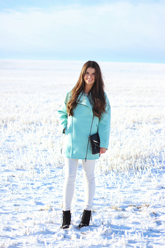 Minty Fresh | How to Wear Winter Pastels // JustineCelina.com