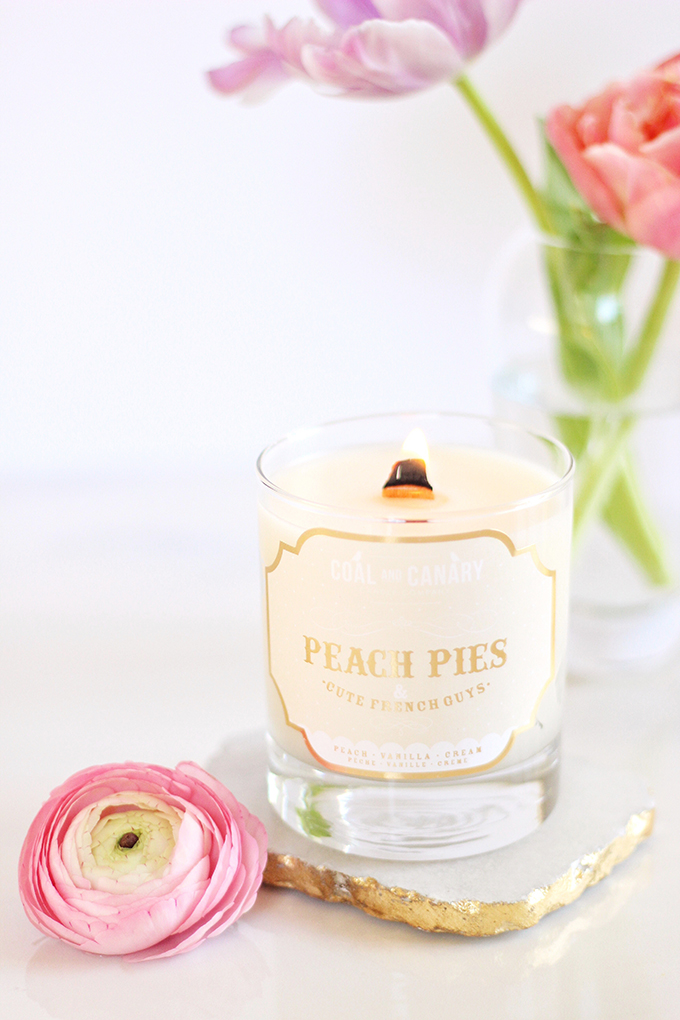 Simple Pleasures   Coal & Canary Peach Pies and Cute French Guys Candle // JustineCelina.com