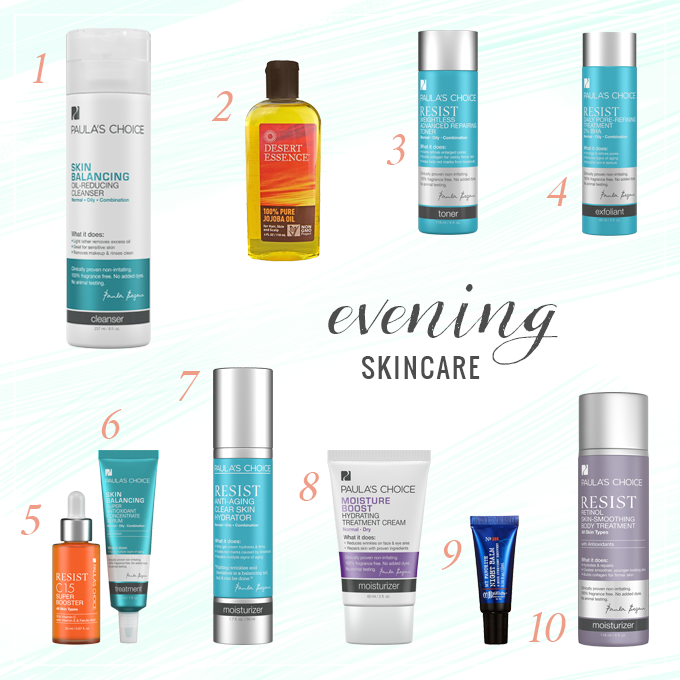 Evening Skincare Routine | Spring 2015 // JustineCelina.com