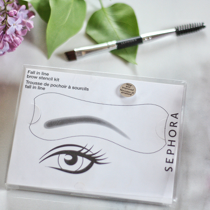 Best in Beauty | May 2015 // SEPHORA COLLECTION Fall in Line Brow Stencil Kit Photos, Review, Swatches // JustineCelina.com