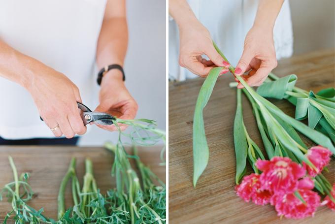 DIY | How to Make a Summer Flower Arrangement with Rebecca Dawn Design | Flower Conditioning // JustineCelina.com