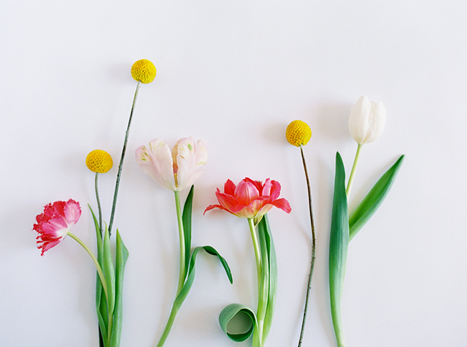 DIY | How to Make a Summer Flower Arrangement with Rebecca Dawn Design | Secondary Flowers: Tulips and Craspedia // JustineCelina.com