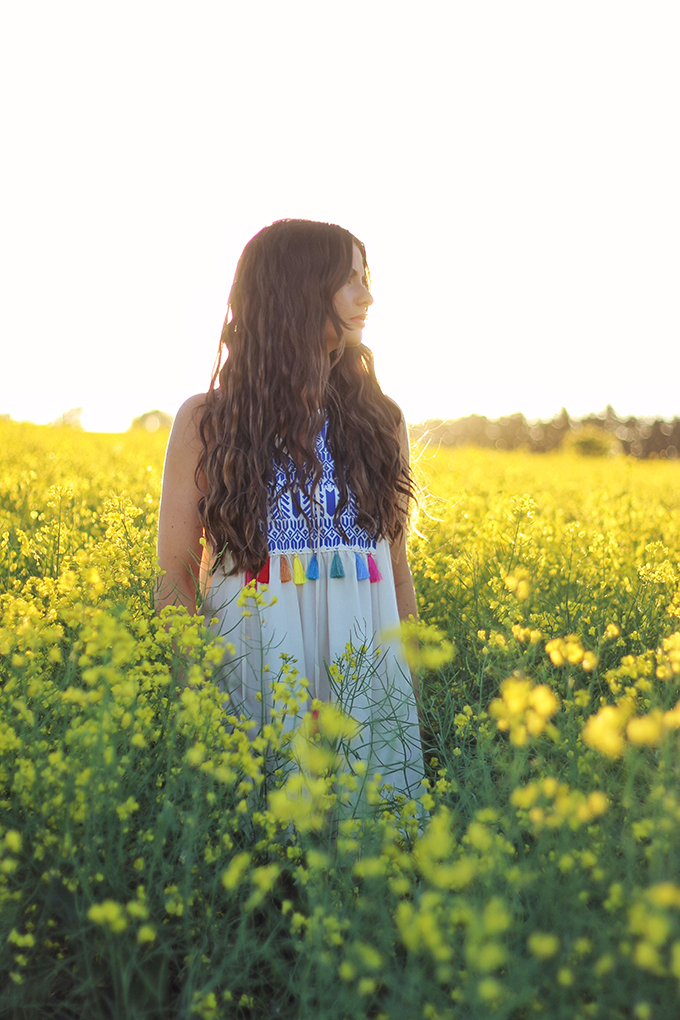 Here Comes the Sun | Carefree Summer Style in a Canola Field | Calgary Fashion Blogger // JustineCelina.com