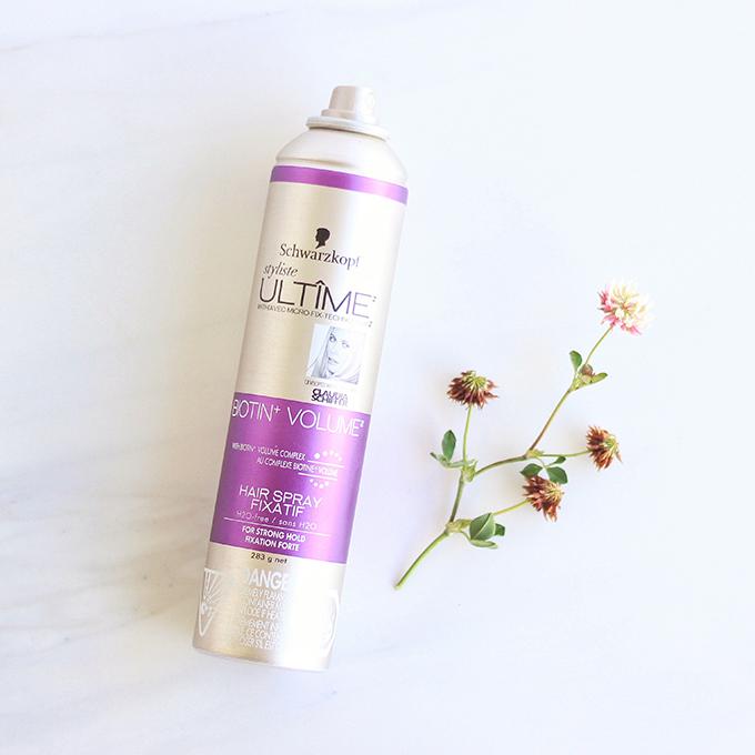 Schwarzkoph Styliste Ultime Biotin+ Volume Hairspray Photos, Review // JustineCelina.com