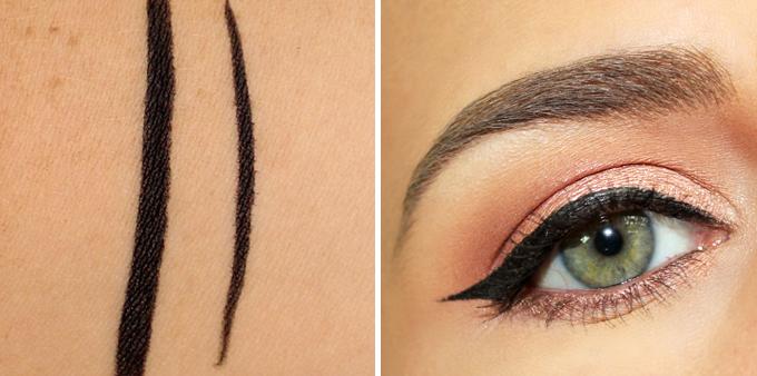 Essence Eyeliner Pen Waterproof in Deep Black Photos, Review, Swatches // JustineCelina.com