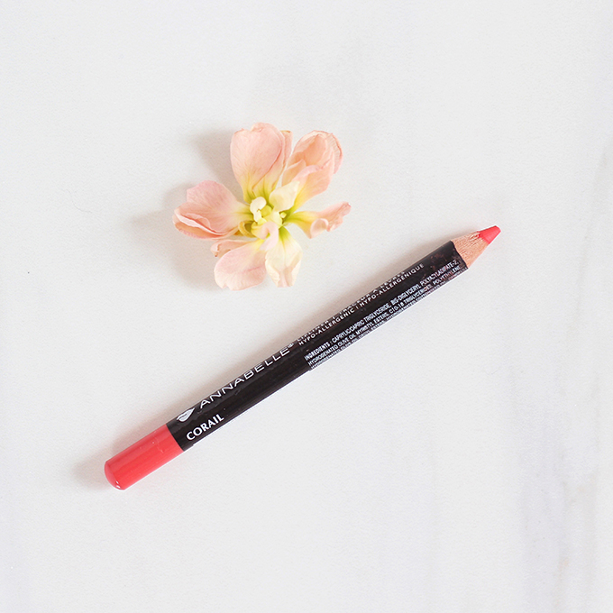 Annabelle Cosmetics Lipliner in Coral Photos, Review, Swatches // JustineCelina.com
