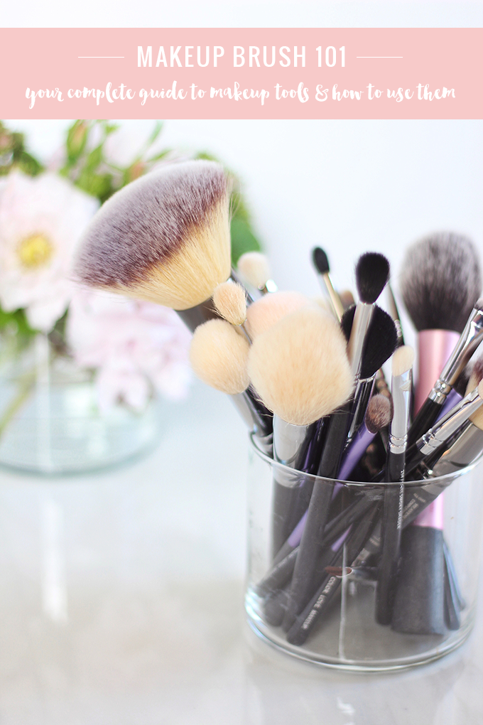 Makeup Brush 101 | Your Complete Guide to Makeup Tools and How to Use Them // JustineCelina.com