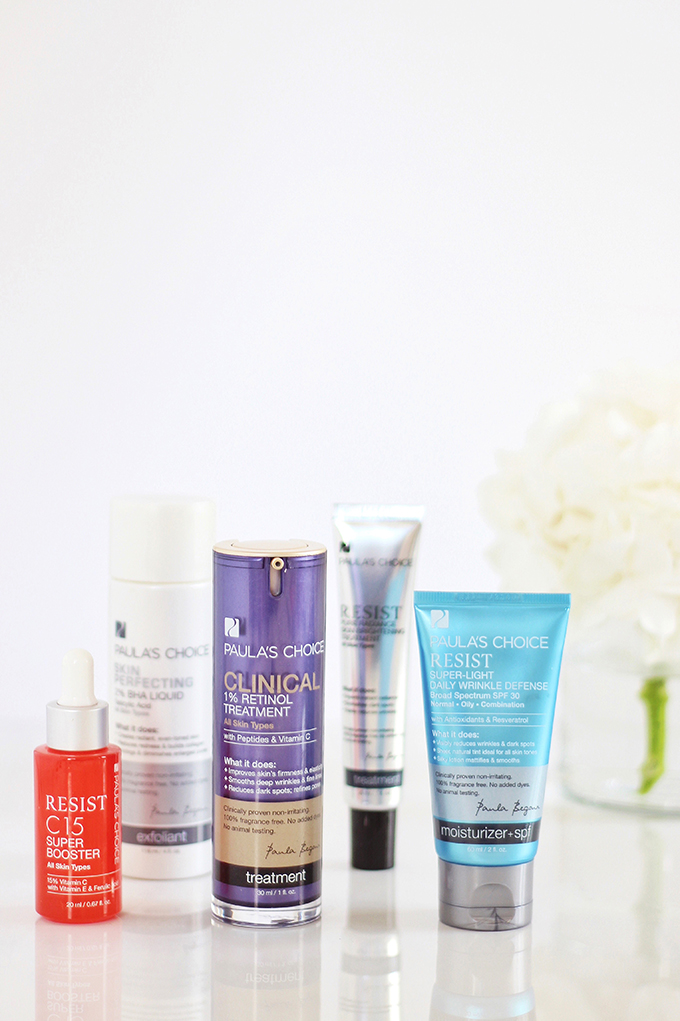 5 Powerhouse Skincare Ingredients | The Most Powerful Anti Aging Paula's Choice Products // JustineCelina.com