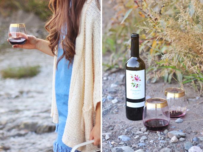 A Mini Mountain Getaway | A Rocky Mountain Picnic with Wine near Calgary, Alberta // JustineCelina.com