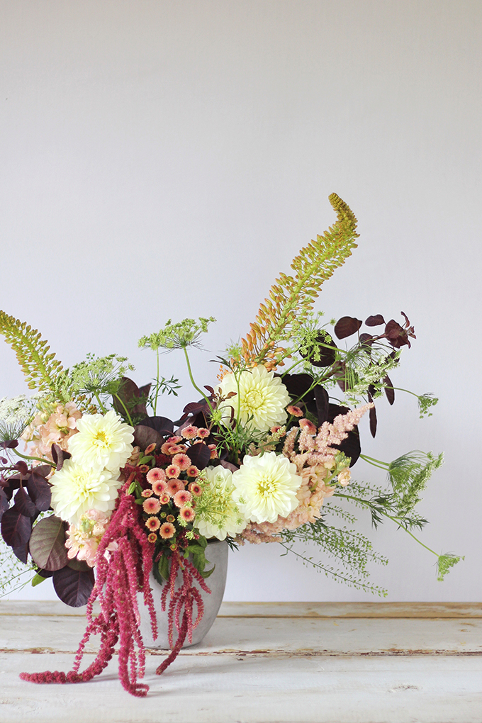 An Introduction to Autumn Flowers | Thanksgiving Floral Inspiration // JustineCelina.com x Rebecca Dawn Design