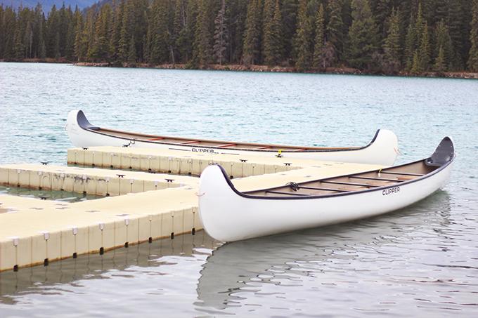 Fairmont Jasper Park Lodge | Canoes on Beauvart Lake // JustineCelina.com