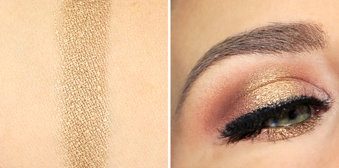 Metallic Gold Pigment from PAT McGRATH LABS Photos, Review, Swatches | December 2016 Beauty Favourites // JustineCelina.com
