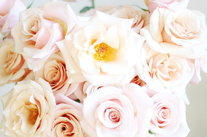All About Roses   Mother of Pearl Hand Bouquet // JustineCelina.com x Rebecca Dawn Design