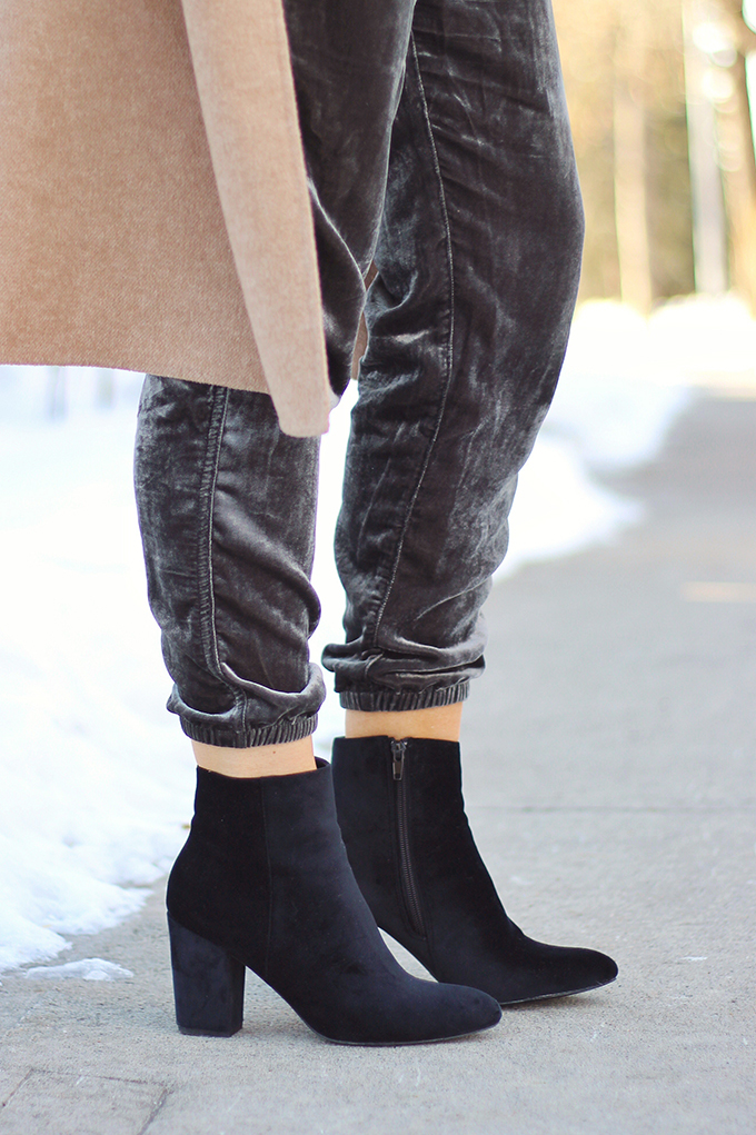 Winter 2017 Shoe Guide | Extras | Velvet Booties // JustineCelina.com
