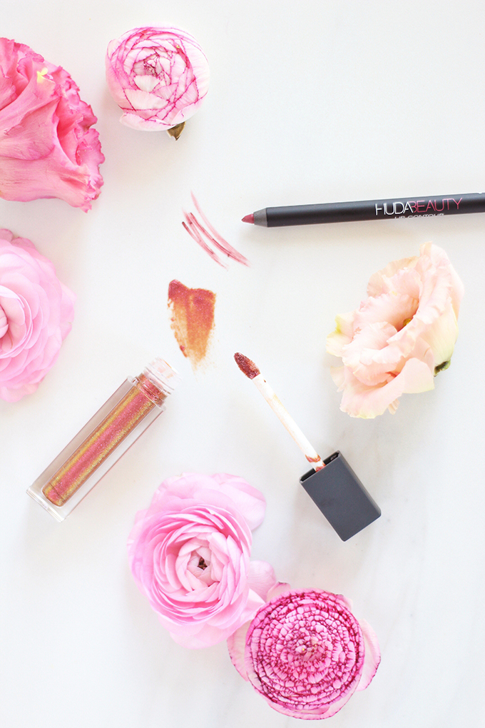 5 Fresh Neutral Lip Combos to Try this Spring | Swatches, Huda Beauty Lip Contour Matte Pencil in Trophy Wife Photos Review Swatches // JustineCelina.com