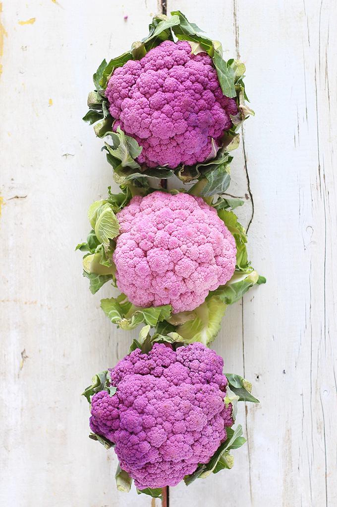 How to Roast a Whole Purple Cauliflower // JustineCelina.com