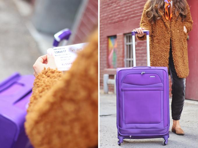 Travel Guide | Vancouver | American Tourister iLite Max Spinner Medium | Purple // JustineCelina.com