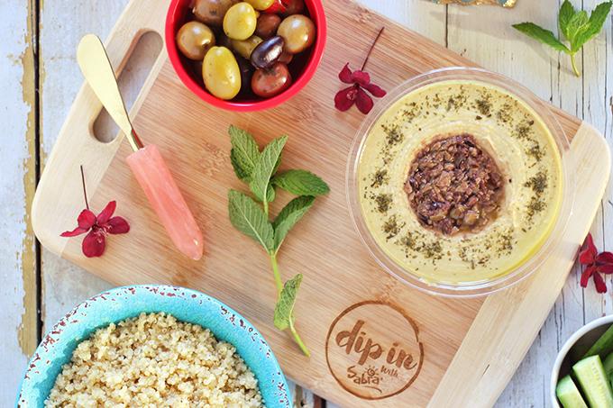 Mediterranean Rainbow Buddha Bowl | Created in Partnership with Sabra Canada #sponsored // JustineCelina.com | #glutenfree #dairyfree #vegan