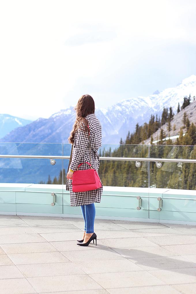 Spring 2017 Trend Guide | Gingham Style | Sulphur Mountain, Banff Alberta Canada Gondola | Sky Bistro // JustineCelina.com