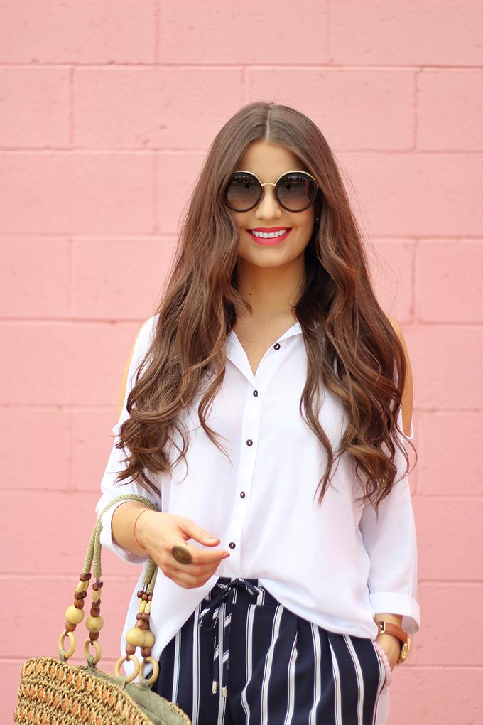 Spring 2017 Trend Guide | Casual Chic | Prada PR50TS 1AB0A7 Sunglasses // JustineCelina.com