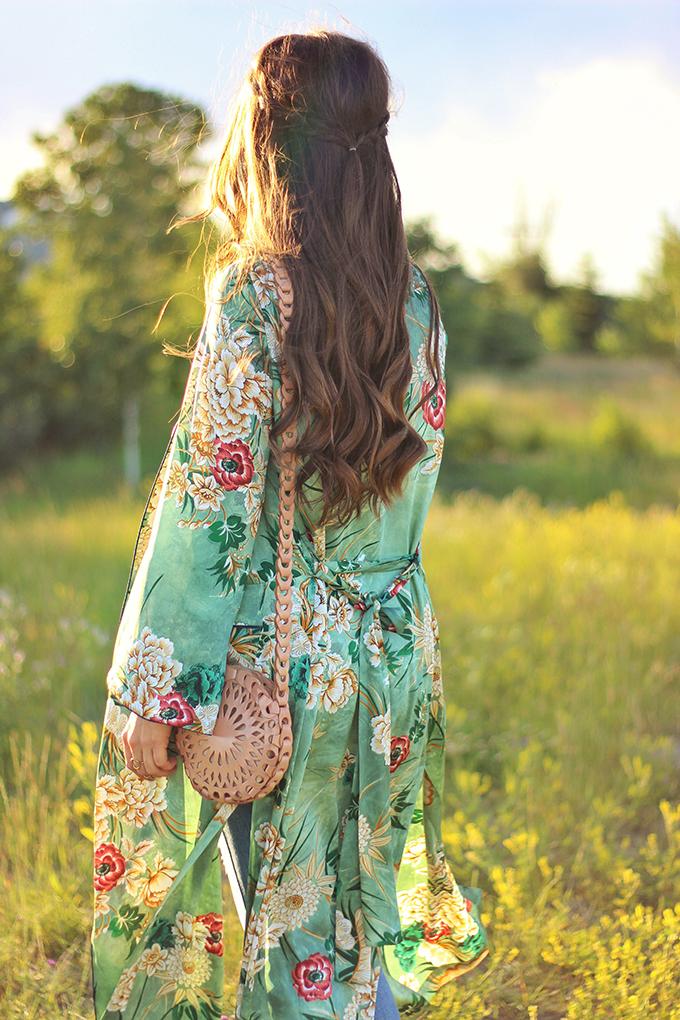 Summer 2017 Trend Guide   Kimono Love   Carefree Braids // JustineCelina.com