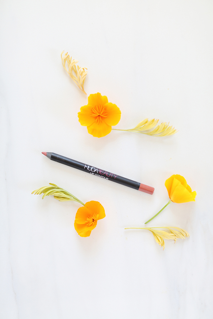 Huda Beauty Lip Contour Matte Pencil inBombshell Photos, Review, Swatches | June 2017 Beauty Favourites // JustineCelina.com