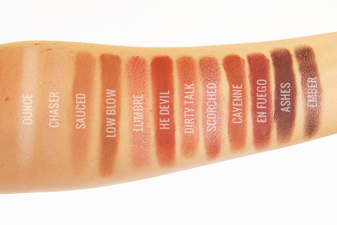 Urban Decay Naked Heat Palette Photos, Review, Swatches on NC 30 Skin // JustineCelina.com