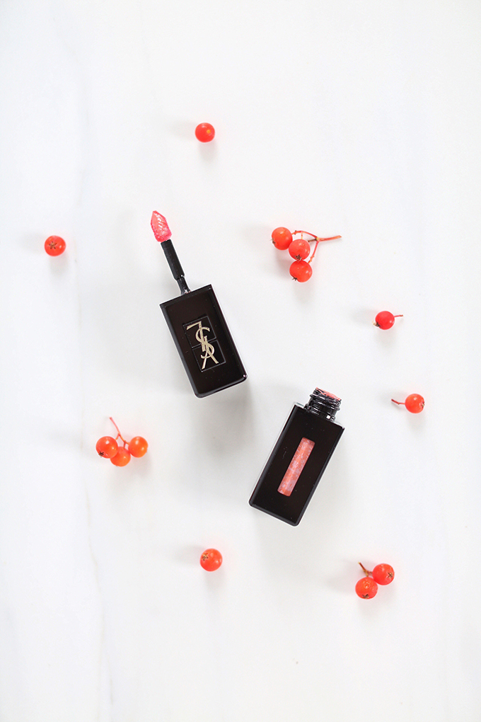 Yves Saint Laurent Vinyl Cream Lip Stain in 404 Nude Pulse Photos, Review, Swatches // JustineCelina.com