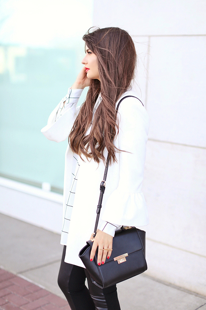 Autumn 2017 Trend Guide | Street Chic | Best Red Lipsticks for Fall 2017 | Bangs for Fall 2017 // JustineCelina.com