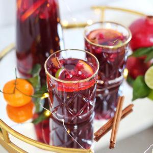 Classic Winter Citrus Red Sangria // JustineCelina.com