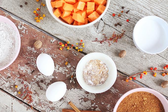 Gluten Free Spiced Sweet Potato Bread Ingredients   #GlutenFree #DairyFree #RefinedSugarFree #OilFree // JustineCelina.com