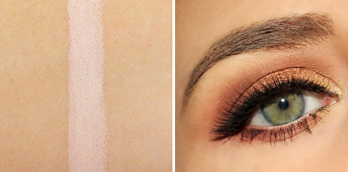 Essence Extreme Lasting Eye Pencil in 06 Silky Nude Photos, Review, Swatches | October 2017 Beauty Favourites // JustineCelina.com