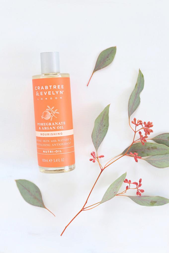 Crabtree & Evelyn Pomegranate & Argan Oil Nutri-Oil Photos, Review   November 2017 Beauty Favourites // JustineCelina.com