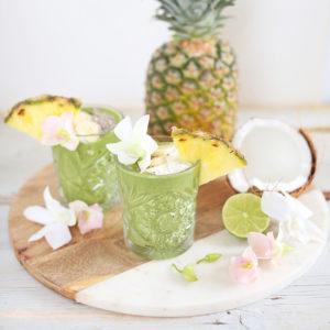 Tropical Zinger Green Smoothie | #dairyfree #glutenfree #refinedsugarfree // JustineCelina.com